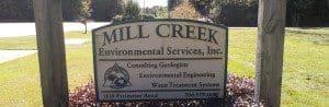 Mill Creek Environmental Sign