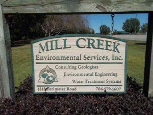 Mill Creek Environmental Services, Inc. Sign