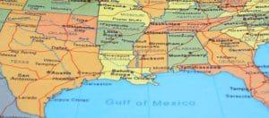 Map of Southeast USA